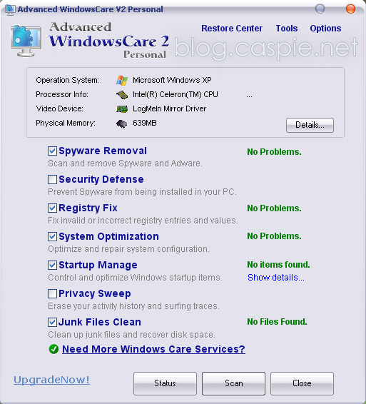 Advanced WindowsCare Personal 2.5.5.823
