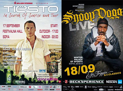Tiesto and Snoop Dogg in Sofia