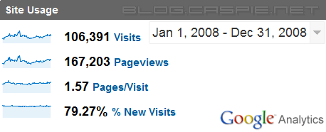 Blog.Caspie.Net - Google Analytics - 2008