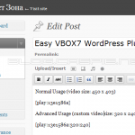 Easy VBOX7 WordPress Plugin