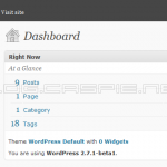 WordPress 2.7.1 Beta 1