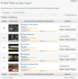 Fast Tube Video Gallery