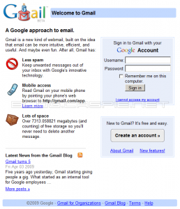 5 Years Gmail