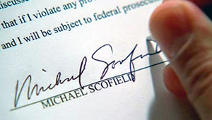 Michael Scofield's Final Signature