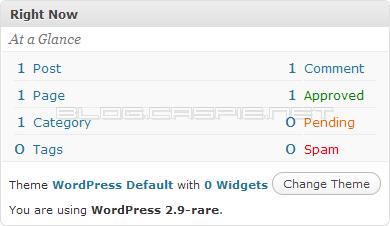 WordPress 2.9-rare