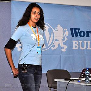 Василена Вълчанова @ WordCamp Bulgaria 2010