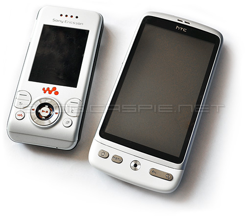 SonyEricsson W580i and HTC Desire White