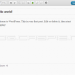 WordPress 3.2 Beta 1 - Fullscreen Edit