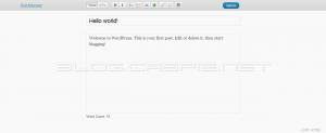 WordPress 3.2 Beta 1 - Fullscreen Edit