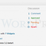 WordPress 3.2 Beta 1 - Right Now