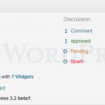 WordPress 3.2 Beta 1 - Right Now