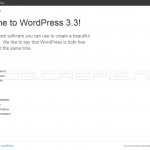 WordPress 3.3 Beta 1 - About This Version