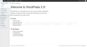 WordPress 3.3 Beta 1 - About This Version