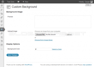 WordPress 3.4 - Custom Background