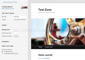 WordPress 3.4 - Customize Theme