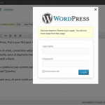 WordPress 3.6 Inline Login