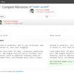 WordPress 3.6 Revisions UI