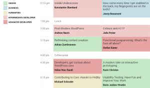 WordCamp Europe 2014 - Schedule