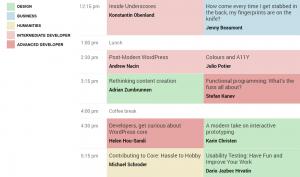 WordCamp Europe 2014 - Schedule
