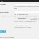 WordPress 4.1 - Logout