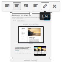 WordPress 4.1 - Image Toolbar